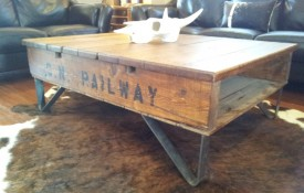 The Refined Pallet - Reclaimed Wood Furniture and Sliding Barn Doors - Toronto - Big Daddy on Anvil Iron Legs
