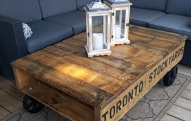 The Refined Pallet - Reclaimed Wood Furniture and Sliding Barn Doors - Toronto - Industrial Pallet Table