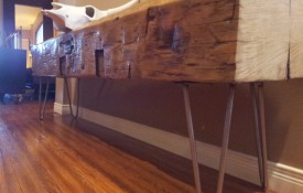 The Refined Pallet - Reclaimed Wood Furniture and Sliding Barn Doors - Toronto - Barn Beam Bench