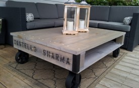 The Refined Pallet - Reclaimed Wood Furniture and Sliding Barn Doors - Toronto - Double Decker Reclaimed Barn Wood Coffee Table