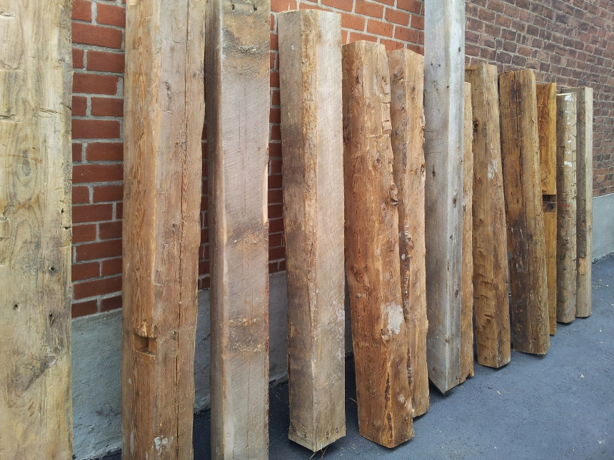 Reclaimed barn beams and barn wood for Salvaged timber beams