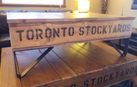 The Refined Pallet - Reclaimed Wood Furniture and Sliding Barn Doors - Toronto - Big Daddy on Black Anvil Iron Legs