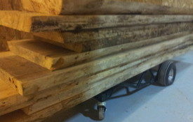 The Refined Pallet - Reclaimed Wood Furniture and Sliding Barn Doors - Toronto - Big Ash Barn Beam Slabs