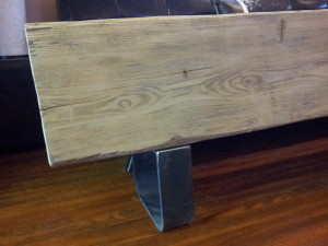 The Refined Pallet - Reclaimed Wood Furniture and Sliding Barn Doors - Toronto - Big Barn Beam Bench
